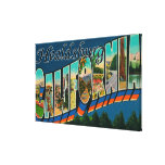 Healdburg, California - Large Letter Scenes Stretched Canvas Print
