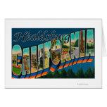 Healdburg, California - Large Letter Scenes Greeting Card