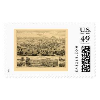 Healdsburg, CA Panoramic Map - 1876 Stamp