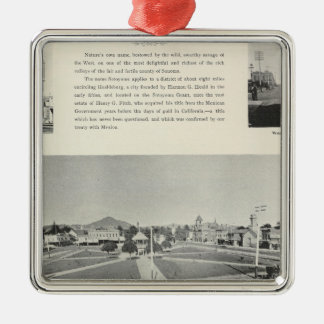 Healdsburg, California Metal Ornament