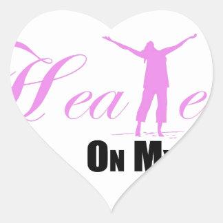 Healed on my Way Accessories Heart Sticker
