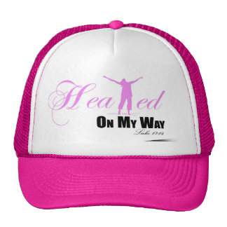 Healed on my Way (Pink, White, Black ) Hat