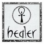 "Healer 5.25"" Square Invitation Card"