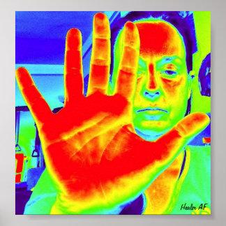 Healer Anita Fugoso at work with healing energy Poster