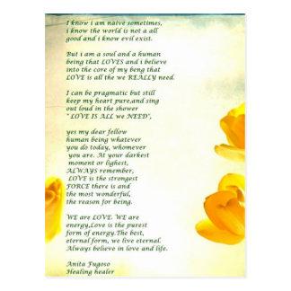 Healer Anita Fugoso's letter about love vintage Postcard