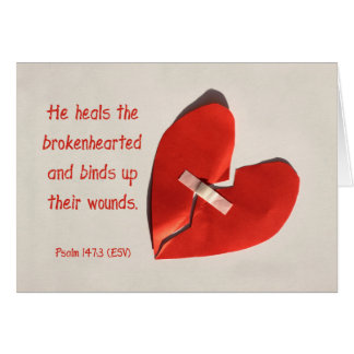 Healer of Broken Hearts Psalm 147:3 Scripture Art Stationery Note Card