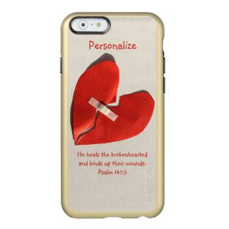 Healer of Broken Hearts Psalm 147:3 Scripture Art Incipio Feather Shine iPhone 6 Case
