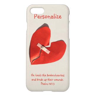Healer of Broken Hearts Psalm 147:3 Scripture Art iPhone 8/7 Case