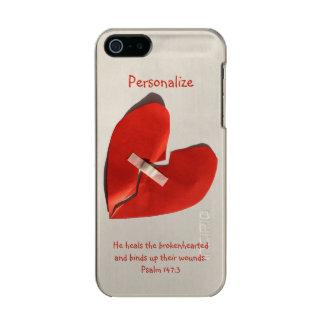 Healer of Broken Hearts Psalm 147:3 Scripture Art Metallic Phone Case For iPhone SE/5/5s