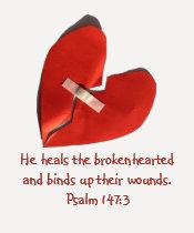 Healer of Broken Hearts Psalm 147:3 Scripture Art Tshirt