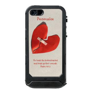 Healer of Broken Hearts Psalm 147:3 Scripture Art Waterproof iPhone SE/5/5s Case