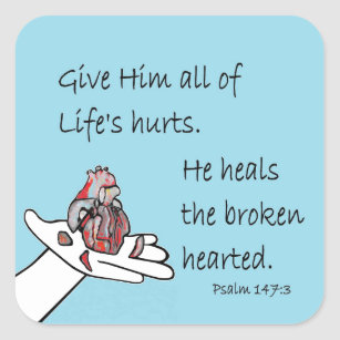 Healer of Broken Hearts Square Sticker