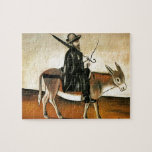 Healer on a Donkey by Niko Pirosmani Jigsaw Puzzle