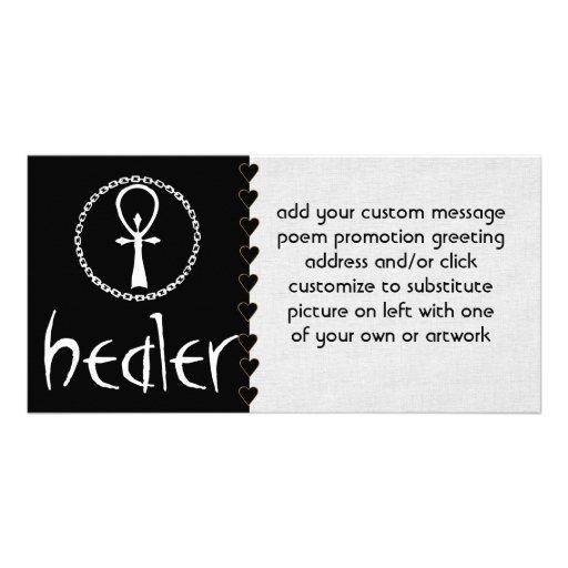 Healer Photo Card Template