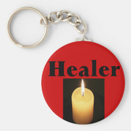 """""""Healer"""" With Soft Glowing Candle Keychain"""