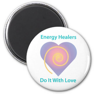 Healers Do It With Love 2 Inch Round Magnet