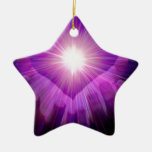 Healers flame Double-Sided star ceramic christmas ornament