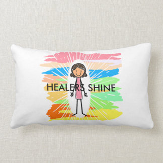 """HEALERS SHINE"" Lumbar Pillow 13"" x 21"""