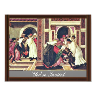 Healing A Child Was Run Over By A Cart And Predict 4.25x5.5 Paper Invitation Card