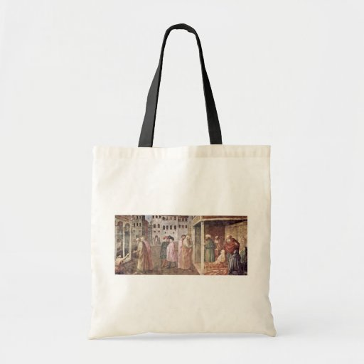 Healing A Lame Man By Peter And John, And Resurre Tote Bags