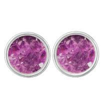Healing Amethyst Gemstone Cufflinks