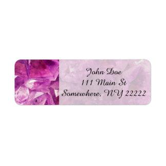Healing Amethyst Gemstone Label