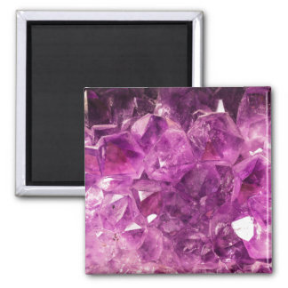 Healing Amethyst Gemstone Fridge Magnets