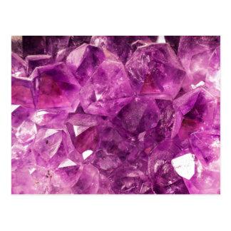 Healing Amethyst Gemstone Postcard