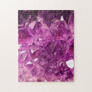 Healing Amethyst Gemstone Jigsaw Puzzle