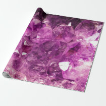Healing Amethyst Gemstone Wrapping Paper