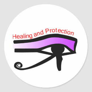 Healing and Protecting symbol Classic Round Sticker