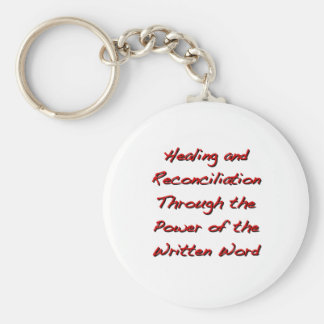 Healing and Reconciliation Basic Round Button Keychain