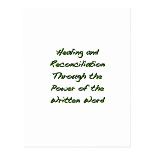 Healing and Reconciliation Postcard