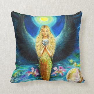 Healing Angel Throw Pillow