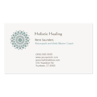 Healing Arts and Natural Healing Circle Logo Business Card Templates