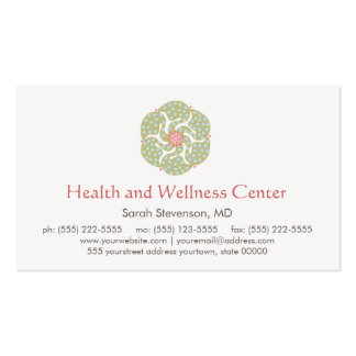Healing Arts Health and Wellness Business Card Pack Of Standard Business Cards