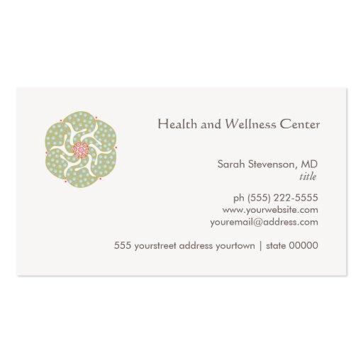 Healing Arts Health and Wellness Business Card