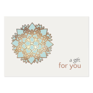 Healing Arts Lotus Gift Certificate Large Business Cards (Pack Of 100)
