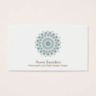 Healing Arts, Natural Health and Wellness Logo Business Card