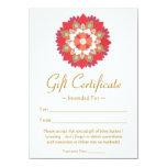 Healing Arts  Red Lotus Flower Gift Certificate Custom Invite