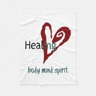 Healing Body Mind Spirit Fleece Blanket