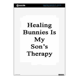 Healing Bunnies Is My Son's Therapy Decal For iPad 3