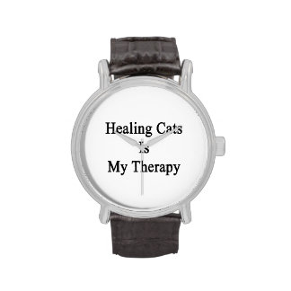 Healing Cats Is My Therapy Wrist Watch