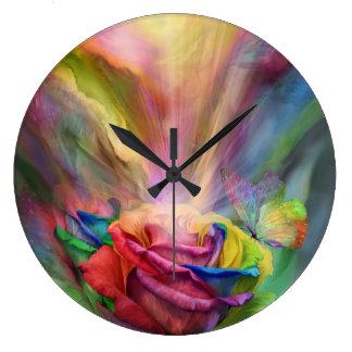 Healing Chakra Rose Art Clock