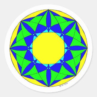 Healing Chamber of Light Round Sticker