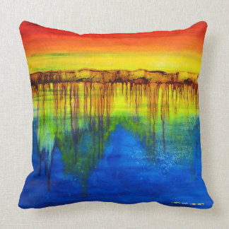 HEALING COLORS Art Therapy Pillow, 2 Diffrnt Sides Throw Pillow