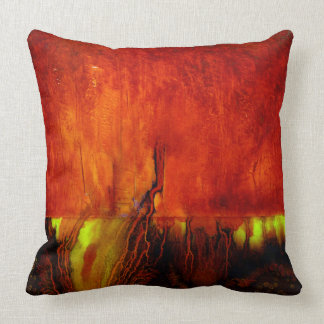 Healing Colors RED Throw Pillow -2 Different Sides