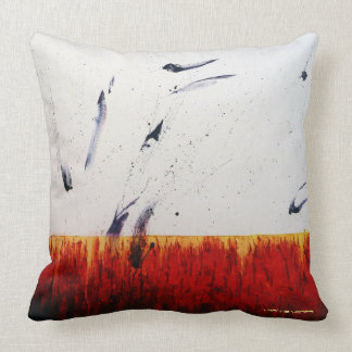 Healing Colors RED Throw Pillow by Leanne Venier