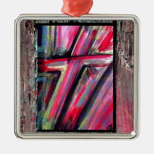 Healing Cross Metal Ornament