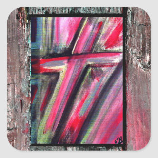 Healing Cross Square Sticker
